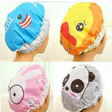 1PC Bathroom Accessories Waterproof Shower Hat Elastic Band Hat Bath Cute Cartoon Rabbit Elephant Lion Duck Panda Shower Hats