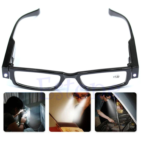 Multi Strength LED Reading Glasses Eyeglass Spectacle Diopter Magnifier Light