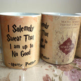 Light Magic Marauders Map mug mischief managed mug I solemnly swear that i am up to no good coffee cup