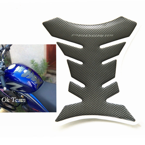 1pcs Carbon Fiber Tank Pad Tankpad Protector Sticker For Motorcycle Universal Fishbone