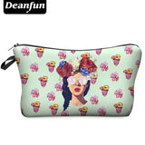 3D Printing Makeup Bags With Multicolor Pattern Cute Cosmetics Pouchs For Travel Ladies Pouch Womens Cosmetic Bag