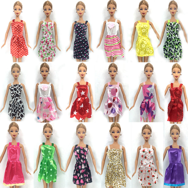 10 Pcs Mix Sorts Beautiful Handmade Party Clothes Fashion Dress For Barbie Doll Toys