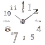 Home decor Quartz wall clock living room watches limited modern fashion diy art stickers