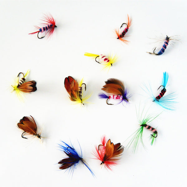 12 pcs/set Various Dry Fly Fishing, Trout Salmon Dry Flies Fish Hook Lures