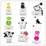 1pc 20 Styles Cartoon Animal Eco Friendly Home Decoration Switch Sticker Wall Stickers for Kids Room