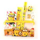 1 set kawaii pencil case cute Kids school supplies stationery set cartoon Minion pencil case& Bag for boys & girls
