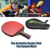 1x Carbon Fiber Table tennis racket Blade with double face Pimples Racket rubber paddle with bag