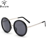 New Retro Round Sunglasses Women Brand Designer Vintage Sun Glasses Women Coating Sunglass