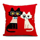 Cat Style Fashion Cushion Cat Print Pillow Bed Sofa Home Decorative Pillow