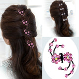 Fashion 6Pcs Girls Crystal Snowflake Hair Clips Hair Pins Headwear Crystal Accessories Hair Clips