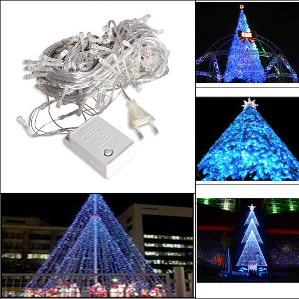 10m LED Light Strap Lamp White Waterproof Home Garden Christmas Decoration Outdoor Indoor Decor Christmas Tree Ornament