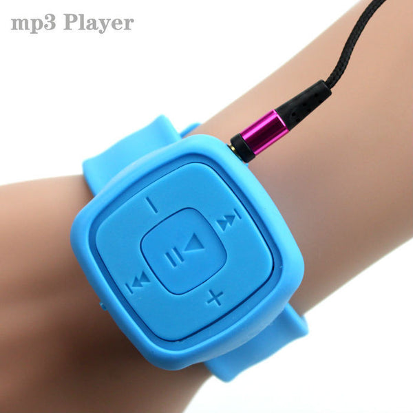 Sport Mini watches Mp3 Player Portable Music Player With Micro TF Card Slot (MP3 ONLY) Can Use As USB Flash Dish