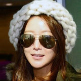 The Korean Version Fashion Knitting Wool Caps Woman shag line warm winter hats multicolor