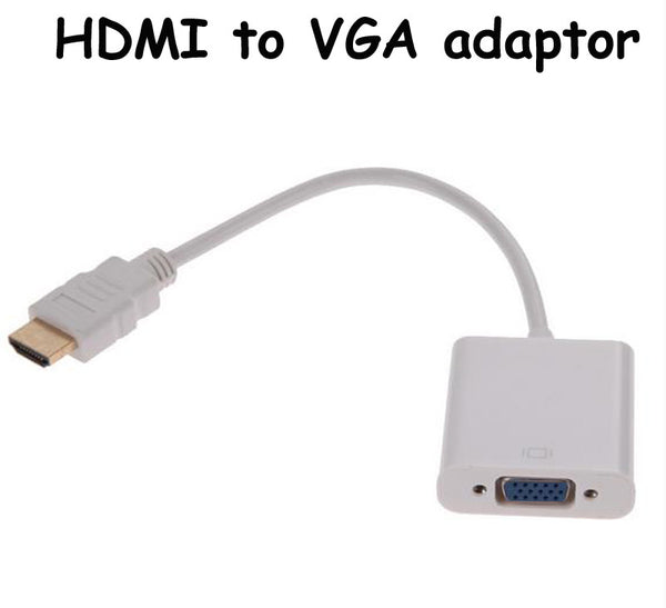 25cm 50/60Hz USB 1080P HDMI Male to VGA Female Video Converter Adapter Cable for PC DVD HDTV Support Analog Video