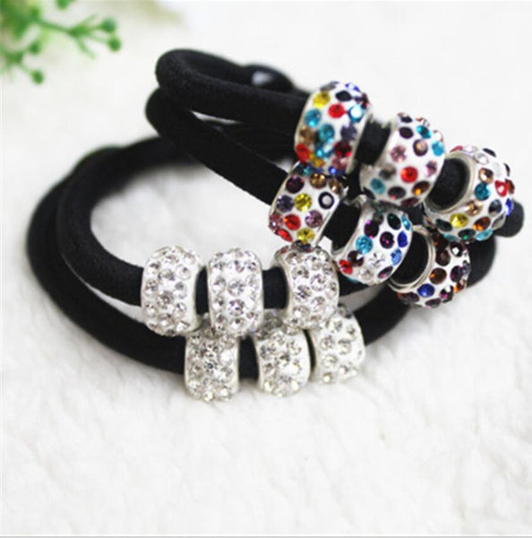 1piece Elastic hair bands with rhinestones Ball for women girl hair accessories