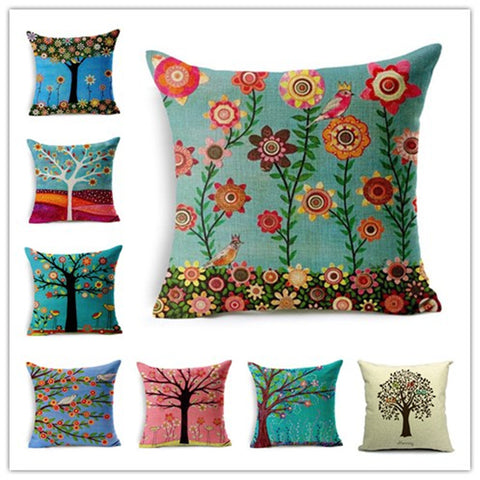 Natural Style Fashion Cushion Tree Print pillow Bed Sofa Home Decorative Pillow