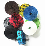 High Quality Colorful Cycling Handle Belt Bike Bicycle Cork Handlebar Tape Wrap +2 Bar