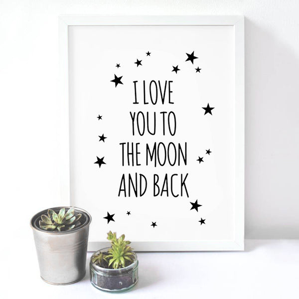 Love Quote Canvas Art Print Painting Poster, Wall Pictures For Child Room Decoration,  Cartoon Wall Decor