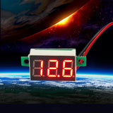 1 pc DC 4.7~32V No power supply needed Mini Red LED Panel Voltage Meter 3-Digital Adjustment Voltmeter 200ms/time
