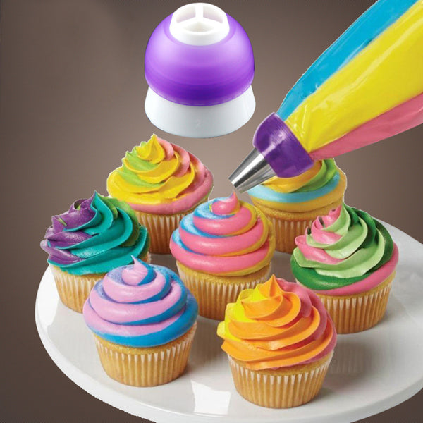 1 pc Icing Piping Decorating Nozzle Converter Adapter Fondant Cake Baking Tool Kitchen Tool