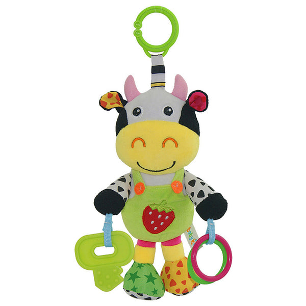 13' Infant Rattles  Baby Music Hanging Bell Toy Doll Soft Bed Plush Toy Educational 13' Infant Rattles Plush Animal Stroller