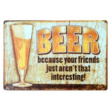 Drink good beer with good Friend Wall sticker Medal home Pub Decor Bar modern wall art poster tin metal sign DD-348
