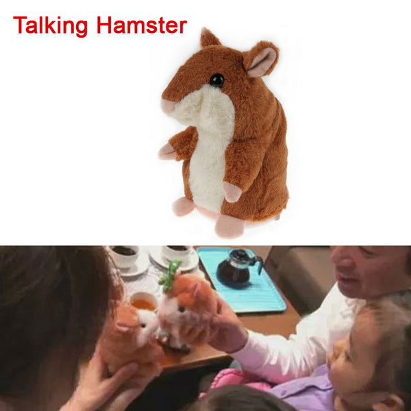 Talking Hamster Plush Toy Kids Speak Talking Sound Record Educational Toy Talking Toys for Children Baby Gifts