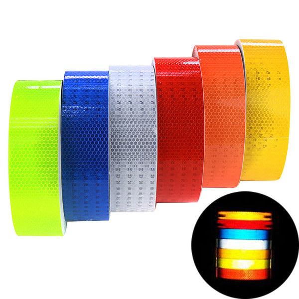 Car Reflective Tape Sticker Auto Stickers Brand Decoration Film Motorcycle Reflect Safety Warning Tape Car-Styling