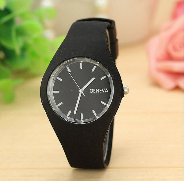 2019 luxury brand women's watches Sports Candy-colored Jelly quartz-watch Silicone Strap ladies watches Relogio masculino clock