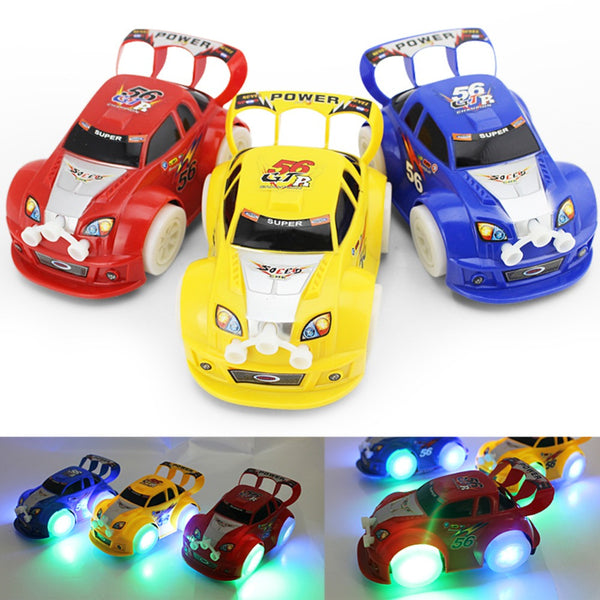 Kid's Toy Electronic Automatic Steering Flashing Music Racing Car Electric Universal Baby Toy