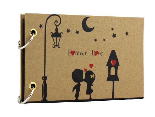 5'' Mini Cute Black Sheet DIY Handmade Love Theme Kids Scrapbook Photo Album