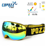 COPOZZ ski goggles double UV400 anti-fog big ski mask glasses skiing men women snow snowboard goggles GOG-201