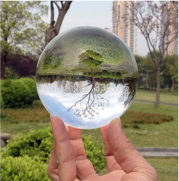 80mm Rare Clear Asian Quartz feng shui ball Crystal Ball Sphere Fashion Table Decor Good Luck Ball