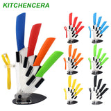 "Kitchen knife ceramic knife set 3"" 4"" 5"" 6"" inch with peeler Zirconia Chef Kitchen Tools"