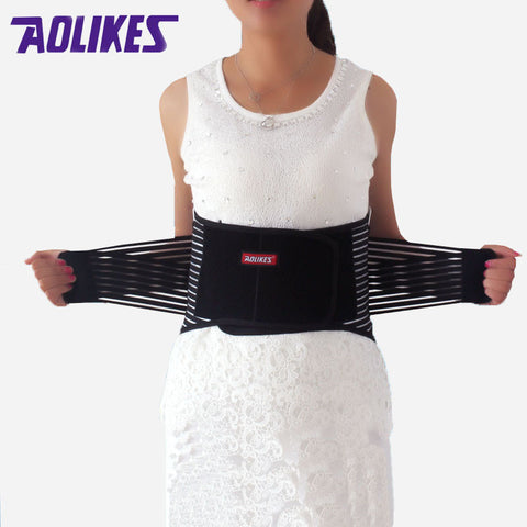Lumbar Support High Elastic Breathable Mesh Health Care With Steel Waist Support Back Support Brace Bodybuilding Belts