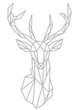 Geometric Deer Head Wall Sticker Geometry Animal Series Decals 3D Vinyl Wall Art Custom Home Decor Size 51x86 cm