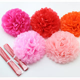 10inch (25cm) pompon Tissue Paper Pom Poms Flower Kissing Balls Home Decoration Festive Party Supplies Wedding Favors