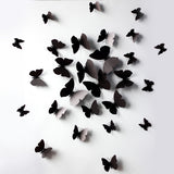12 Pcs 3D Wall Stickers PVC High Quality Butterfly Fridge Magnet for Home Decoration New