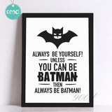 Batman Quote Canvas Art Print Poster, Wall Pictures for Home Decoration, Frame not include