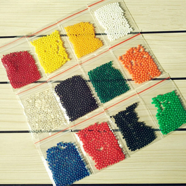 1200pcs/lot 12 color 2.5mm to 3mm Crystal soil/Crystal ball/sea baby grow up 15mm hydrogel beads water holder for home decor