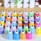 24  Kids Mini Printing Paper Hand Shaper Scrapbook Tags Cards Craft DIY Punch Cutter Tools