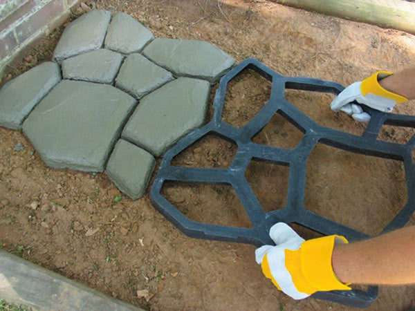 Garden paving plastic mold for garden concrete molds for garden path DIY Stone Paving mold, pathmate shovel