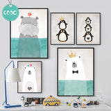 Cartoon Animals Canvas Art Print Painting Poster, Wall Picture for Home Decoration, Wall Decor