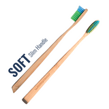 Adult Slim Handle Bamboo Toothbrushes