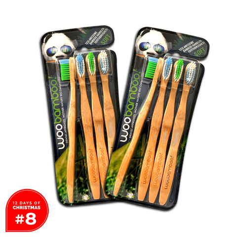 DAY #8 BOGO 4-Pack of Adult Soft Bamboo Toothbrushes