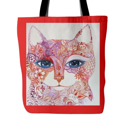 Animal Print Tote Bag Cat Art
