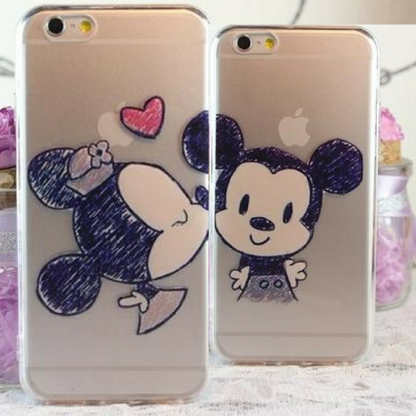 Minnie & Mickey Mouse Kissing Couple Case for iPhones