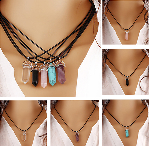 Chakra Natural Stone Choker Pendant Necklace - FREE! Just pay shipping