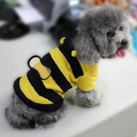 Pet Bumble Bee Hoodie Costume
