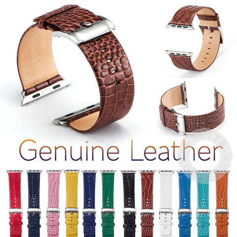 100% Genuine Leather Watch Band for Apple Watch